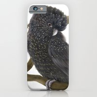 iPhone & iPod Case featuring Glossy Black Cockatoo by Lily Art
