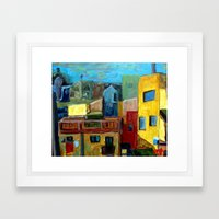 Barcelona Rooftops Framed Art Print