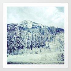 Snowy Mountain Art Print
