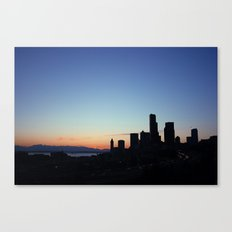 8:47 P.M. Seattle Canvas Print