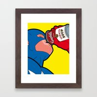 The secret life of heroes - Captain Soap Framed Art Print