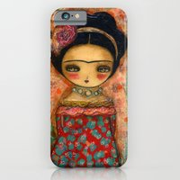 Frida In A Red And Teal Dress iPhone 6 Slim Case