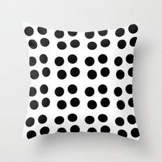 Copijn Black & White Dots Throw Pillow
