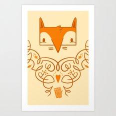 Ornate Fox Art Print