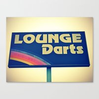 Lounge Darts Sign Canvas Print