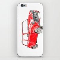 Red Mini Cooper iPhone & iPod Skin