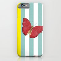 Coral butterfly iPhone 6 Slim Case