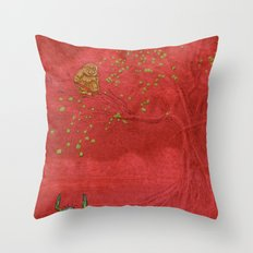 The Crab and the Monkey Throw Pillow