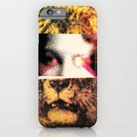 iPhone & iPod Case featuring Lady Lion by fiskofury