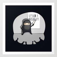 Ninja lessons: Invisibility. Art Print