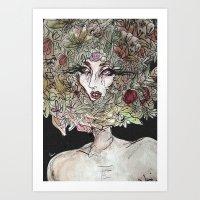 Floral show Art Print