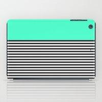 STRIPE COLORBLOCK {MINT/TEAL} iPad Case