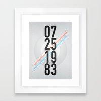 07/25/1983 Framed Art Print