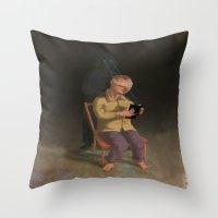 Horor Fiction Throw Pillow