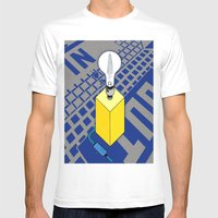 The case of The Light Switch. Mens Fitted Tee White SMALL
