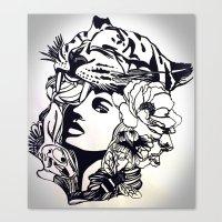 Strong Girl Canvas Print
