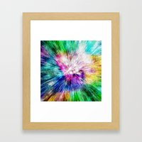 Colorful Tie Dye Abstract Framed Art Print