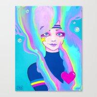 Turbo Girl Canvas Print