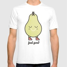 Feel Good Mens Fitted Tee SMALL White