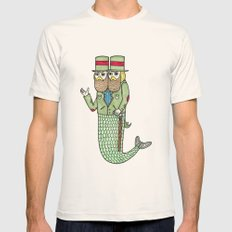 Portrait of a two headed merman Mens Fitted Tee Natural SMALL