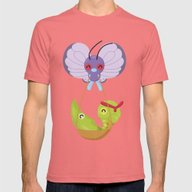 Poke Bugss Mens Fitted Tee Pomegranate SMALL