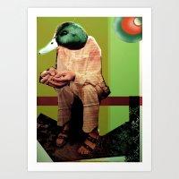Donovan as Duckster Art Print