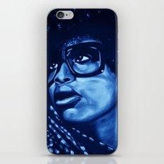 badu?!-blue iPhone & iPod Skin