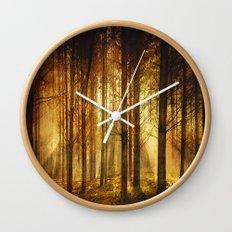 Golden Nature. Wall Clock