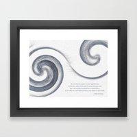 Moving Sea Framed Art Print