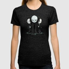 Plushie Death Eaters Womens Fitted Tee Tri-Black SMALL