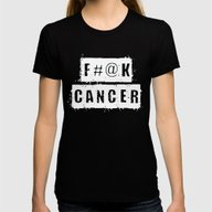 F@#K Cancer Womens Fitted Tee Black SMALL