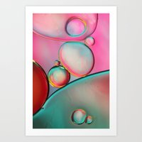 Oil Bubbles Abstract Art Print