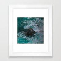 Big Sur Waves Framed Art Print