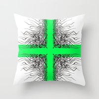 Modern Cross Throw Pillow
