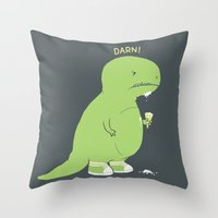 Darn! Throw Pillow