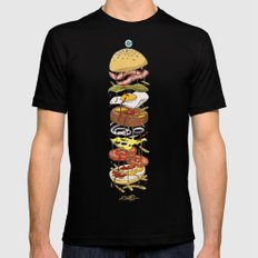 Burger Black SMALL Mens Fitted Tee