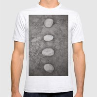 Lined Up Mens Fitted Tee Ash Grey SMALL