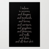 I Believe... Art Print