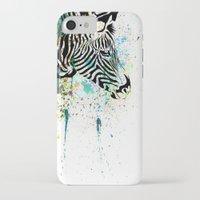 zebra iPhone & iPod Cases featuring Zebra by Del Vecchio Art by Aureo Del Vecchio