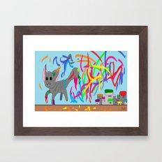 Artistic kitten  Framed Art Print