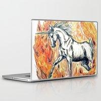 unicorn Laptop & iPad Skins featuring Unicorn by Stephanie Stonato