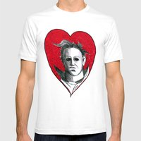 Micheal Myers (All Heart… Mens Fitted Tee White SMALL