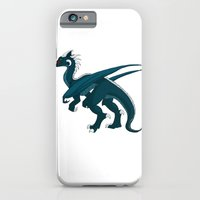 iPhone & iPod Case featuring Teal Dragon by Barbara