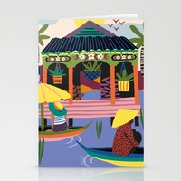 Water Village, Cambodia Stationery Cards