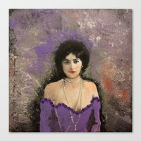 THE MOST BEAUTIFUL WOMAN Canvas Print
