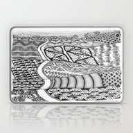 Zentangle Fields Of Drea… Laptop & iPad Skin