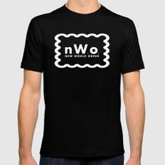 new WORLD order SMALL Black Mens Fitted Tee