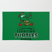 Fighting Turtles Rug