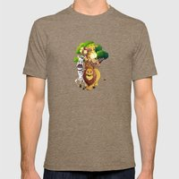 Animals Of Africa Mens Fitted Tee Tri-Coffee SMALL