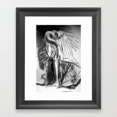 A strange bird Framed Art Print